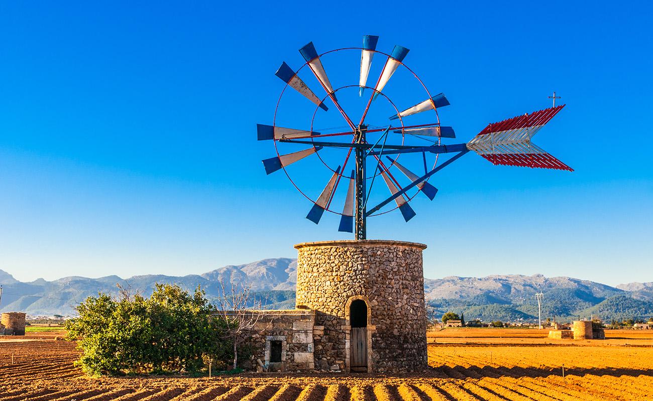 Traditionelle Windmhle auf Mallorca