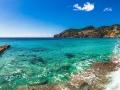 Beautiful seascape panorama at the coast of Majorca island Spain Mediterranean Sea