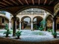 old courtyard in Palma, Mallorca, Spain