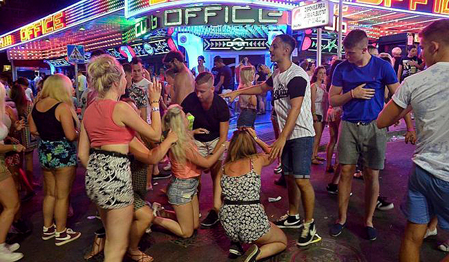 Party in Magaluf