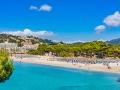 View to the beach of Santa Ponsa Majorca Spain Balearic Islands