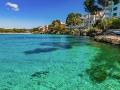 Idyllic view to the beautiful coast bay of Majorca Santa Ponsa