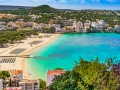 Panorama Beach of Santa Ponca Majorca Spain