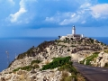 View to lighthouse of Cap Fomentor (Mallorca)