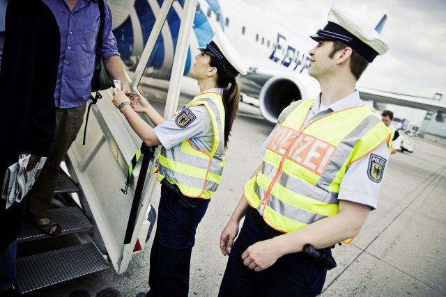 Bundespolizei am Flughafen