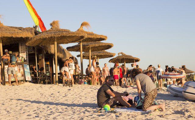 Chiringuitos an der Playa Es Trenc