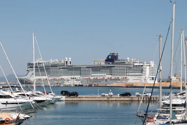 Kreuzfahrtschiff Hafen von Palma