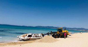 Drogenboot an der Playa de Palma geborgen