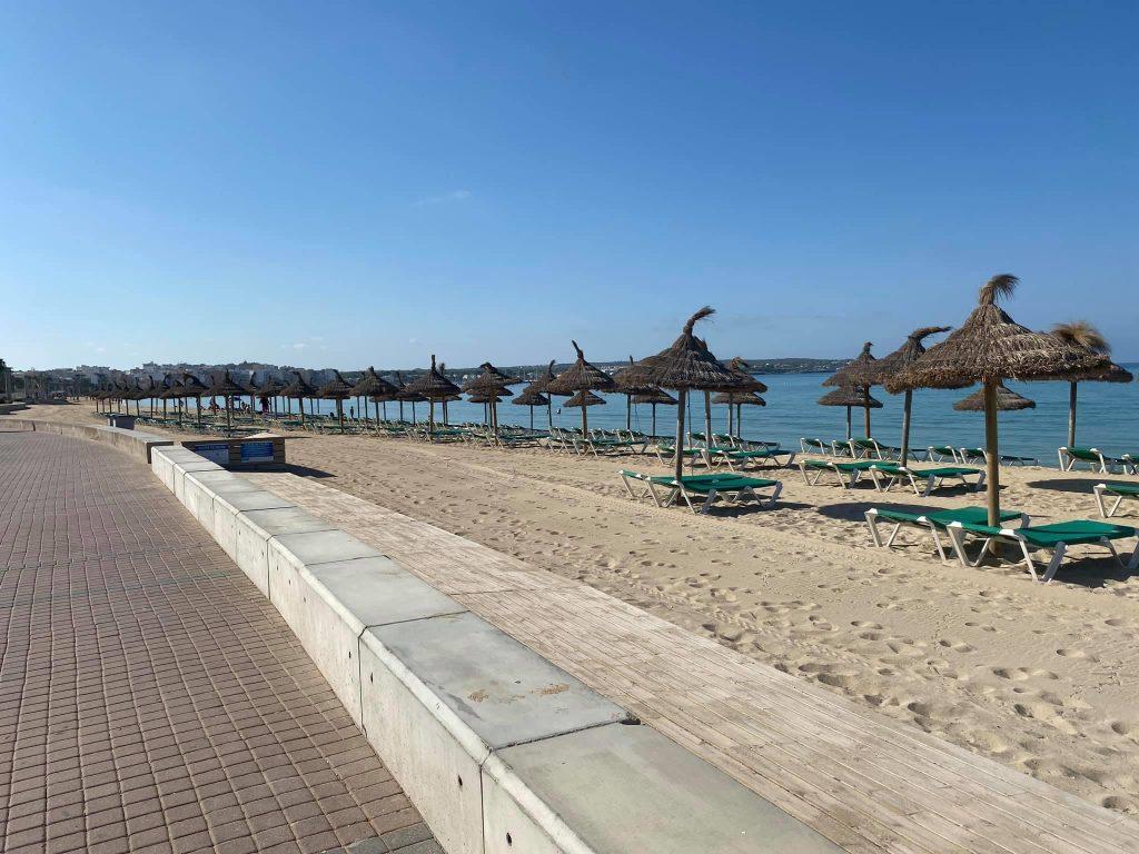 Leere Playa de Palma
