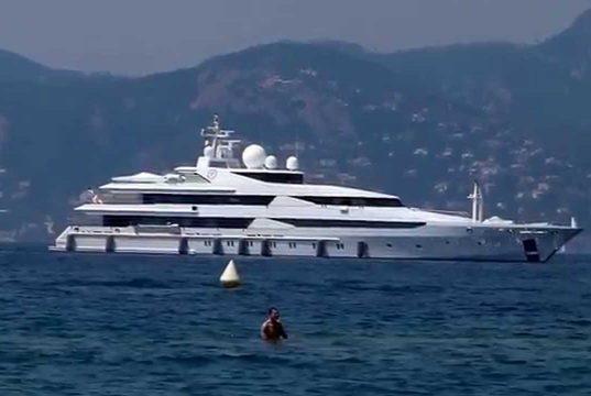 Yacht des Königs von Katar
