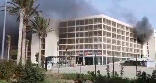 Feuer am Flughafen von Mallorca