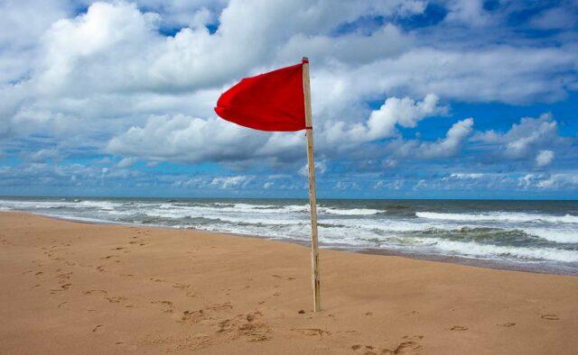 Strand gesperrt