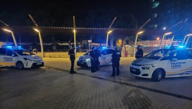 Illegale Trinkgelage Policia Local Palma