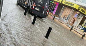 Überschwemmungen Playa de Palma