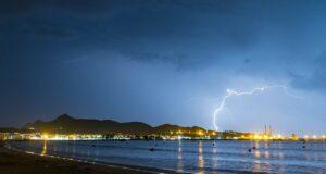 Unwetter Bucht von Alcudia (Port d'Alcudia) Mallorca